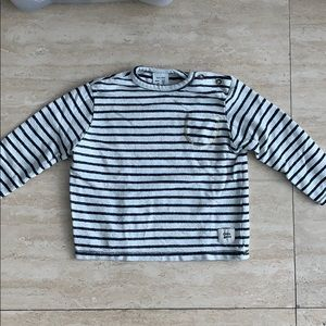 Zara boys striped long sleeve shirt